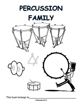 K-3 Percussion Family Workbook