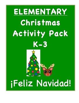 K-3 Spanish Christmas Pack-Printable Activities for la Navidad