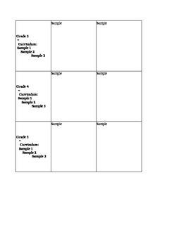 K-5 Curriculum Map