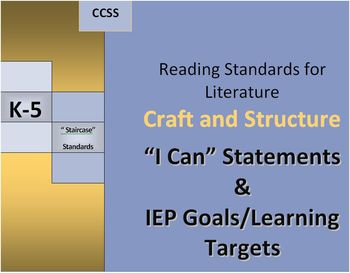 RL Craft and Structure I Can & IEP Goals/Learning Targets