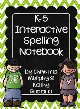 K-5 Interactive Spelling Notebook