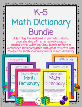 K-5 Math Dictionary Bundle