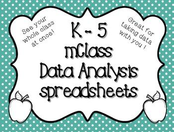 K-5 mClass Data Spredsheet