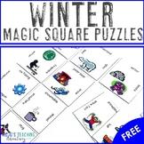 FREE Winter Vocabulary Center Game
