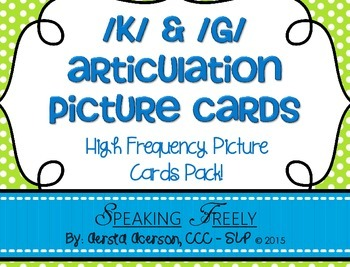 K & G Articulation High-Frequency CVC Word Picture Cards C