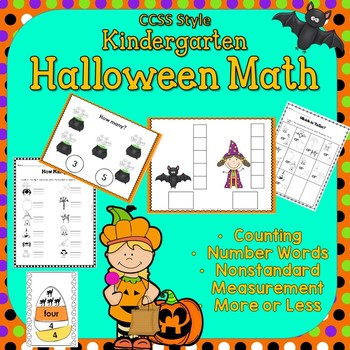 Halloween Math ~ Counting 1-12,  Measurement,  More or Les