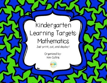 K Math Learning Targets