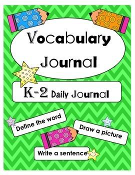 K-2 Vocabulary Journal