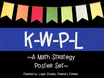 K-W-P-L Math Strategy Poster Set-Blue