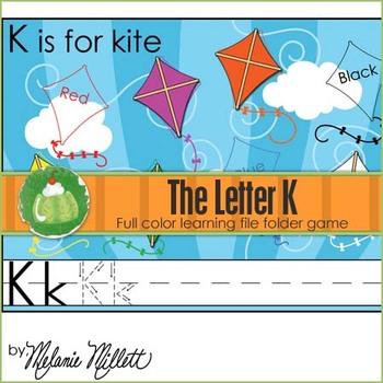 K is for Kite File Folder Game
