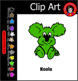 K is for Koala in 12 Colors ~ Free Commercial Use ~ Animal themes