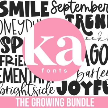 KA Fonts - Complete Font Bundle - Growing Bundle