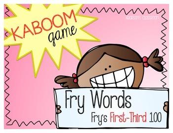 KABOOM Game ~ Fry Words ... Fry's First thru Third 100 *Di