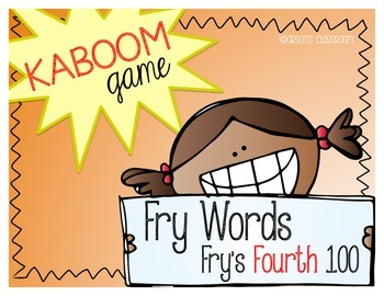 KABOOM Game ~ Fry Words ... Fry's Fourth 100 *Differentiated*