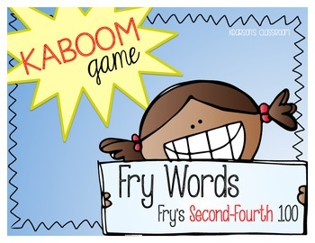 KABOOM Game ~ Fry Words ... Fry's Second thru Fourth 100 *