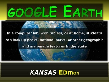 """""""KANSAS"""" GOOGLE EARTH Engaging Geography Assignment (PPT &"""