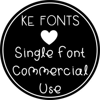 KE Fonts- Single Font Commercial Use