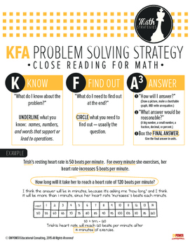 KFA Problem Solving Strategy Guide