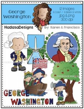 K&F's George Washington Clip Art Set