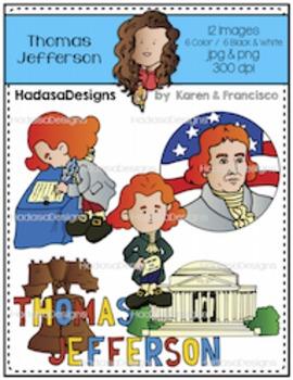K&F's Thomas Jefferson Clip Art Set