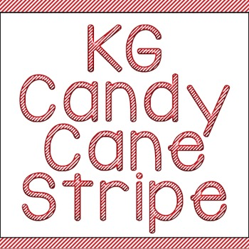 KG Candy Cane Stripe Font: Personal Use