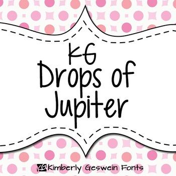 KG Drops of Jupiter Font: Personal Use