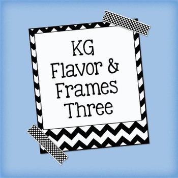 KG Flavor And Frames Three Font: Personal Use