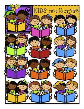 KIDS are Readers! {Creative Clips Digital Clipart}