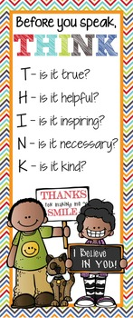 KIDS of COLOR - Classroom Decor: LARGE BANNER, Before You Speak
