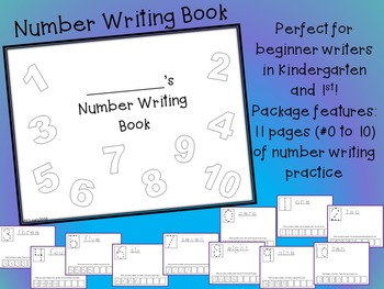 Beginning of Year Number Writing Book NO PREP 0-10 formati