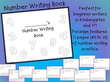 Beginning of Year Number Writing Book NO PREP 0-10 formati