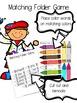 Preschool Color Words Folder Game and Printables