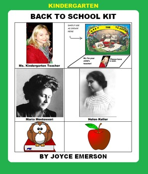 KINDERGARTEN  BACK TO SCHOOL KIT