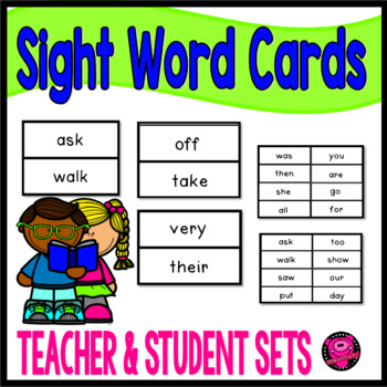 SIGHT WORDS for KINDERGARTEN FLASH CARDS for TEACHER and S