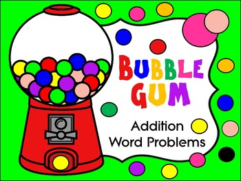 KINDERGARTEN WORD PROBLEMS * ADDITION