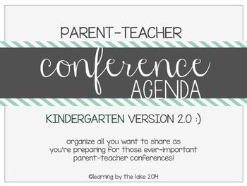 KINDERGARTEN parent-teacher conference agenda (option #2!) :)