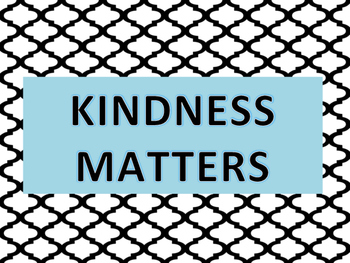 KINDNESS MATTERS POSTER 8.5x11