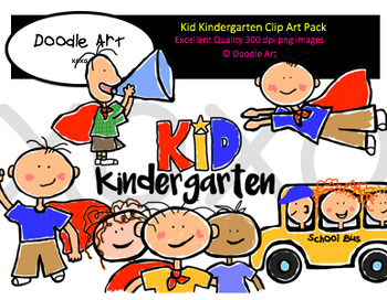 Kid Kindergarten Clipart Pack