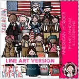 KK's American heroes  by Melonheadz LINE ART