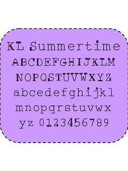 KL Summertime Freebie Font