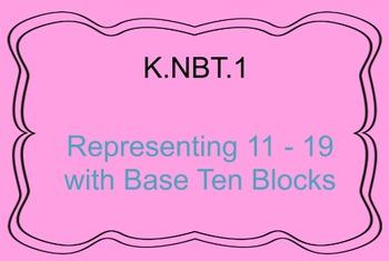 K.NBT.1 Representing 11-19 with Base Ten Blocks, Promethea