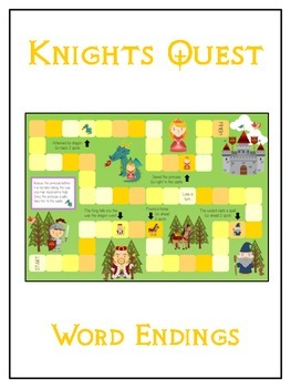 KNIGHT'S QUEST Inflectional Word Endings - ELA First Grade