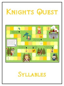 KNIGHT'S QUEST Syllables - ELA First Grade Folder Game - W