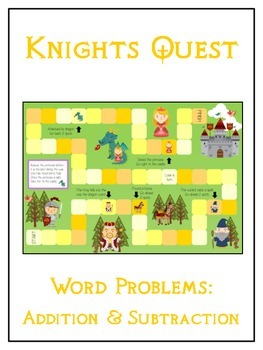 KNIGHT'S QUEST - Word Problems Adding & Subtracting - Math