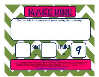 K.OA.3 Make Nine