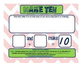 K.OA.3 Make Ten