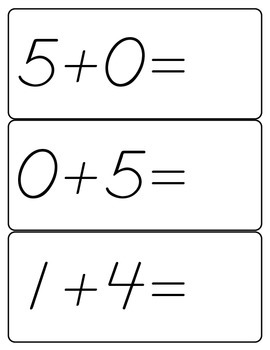K.OA.5 Add/Subtract within 5 Flashcards