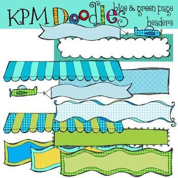KPM Blue and Green Headers