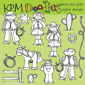 KPM Cowboy Stamps