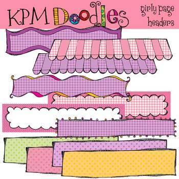 KPM Pink and Purple Headers